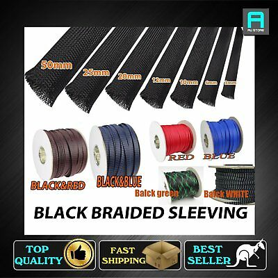 Expandable Braided Cable Wire Sleeving Tubing Φ3mm 6mm 10mm 12m 20mm 25mm 50mm
