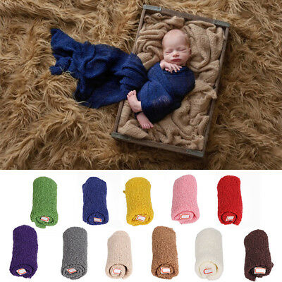 150*35cm Baby Photography Wrap Infant Photo Prop Stretch Wrap Soft Yarn Blanket