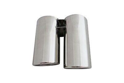 Double Stainless Steel Extension Exhaust Tip Tail Pipes for BMW E46 320i /BW320