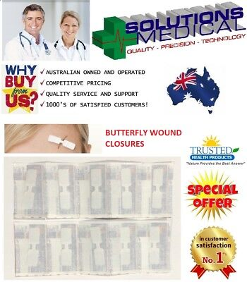 Butterfly Wound Closures First Aid Adhesive Wound Strips