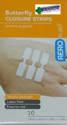 First Aid Butterfly Closures (Pkt 10) Wound Dressings Strips