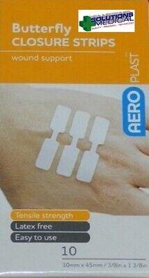 First Aid Butterfly Closures Wound Dressings Strips 10/Pkt