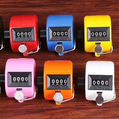 4 Digit Manual Mechanical Hand Tally Number Counter Click Clicker Counting Acces