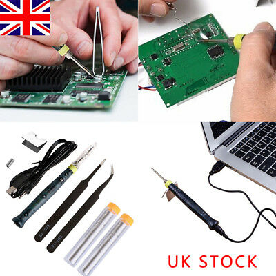 Mini LED Indicator 5V 8W USB Powered  Professional Portable Soldering Iron Kit