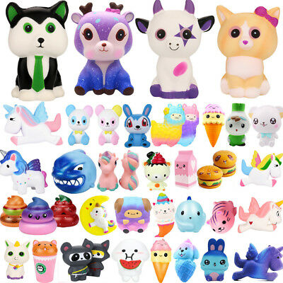 Funny Jumbo Slow Rising Squishies Scented Cute Squeeze Charm Toys Collect Lot IK