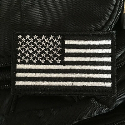 USA United States Flag Military Tactical Morale Army Hook Loop Patch Badge Black