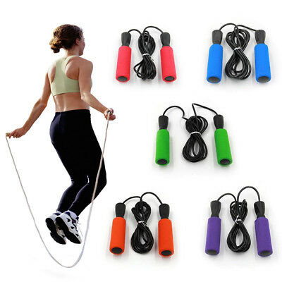 Skipping Rope Adult Long Nylon Plastic Handles Gym Fitness Training Greatly