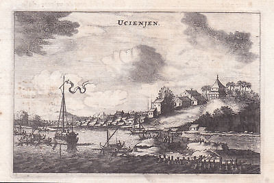Ucienjen China Asia Stadt city Ansicht view Kupferstich antique print Nieuhof