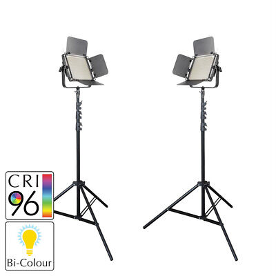 PIXAPRO® LECO 500B II Bi-Colour LED Video Light Twin Kit with Stands Essential