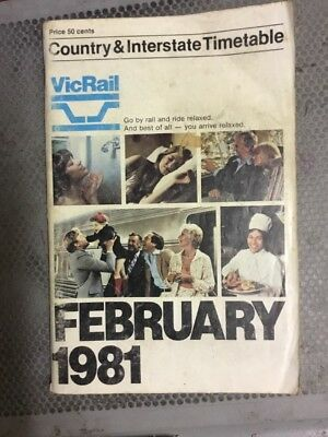 Vic Rails Train Times - February 1981