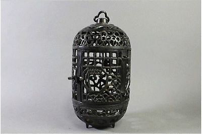 "Japanese Antique Copper Bronze Lantern ""Matsu"" made by Takaoka Copper Studio."