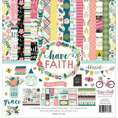 "Echo Park Collection Kit - HAVE FAITH - 12x12"" papers + stickers"