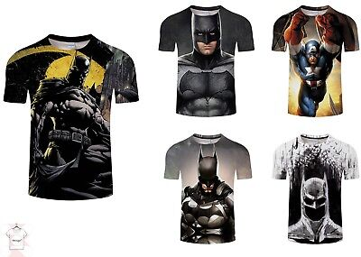 Batman 3D T-shirt Full Print Comics Cool Superhero Tee Men Women Size S - 4a819032936