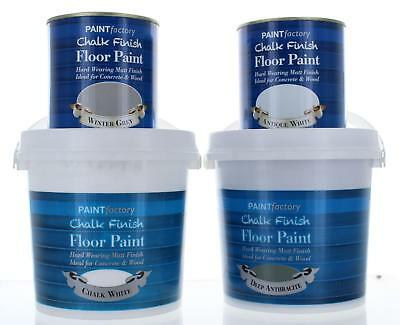 Chalk Paint Matt Floor Paint Wood /Concrete 650ml or 2L - 4 Colours Shabby Chic