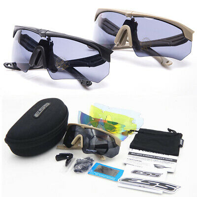 ESS Crossbow TR-90 Polarized Military Sunglasses 3-5 Lens Tactical Army Goggles