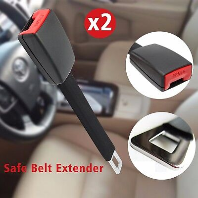2x Car Auto Seat Belt Safety High Strength Extender Extension Strip Buckle Clip