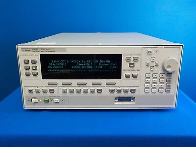 Agilent 83630L w/ 004/008 Synthesized Swept-CW Generator, 10 MHz to 26.5 GHz