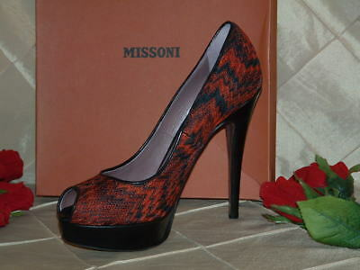 Missoni Classic Orange Red Zag Pump Sz 39 **nib And From My Personal Stash**
