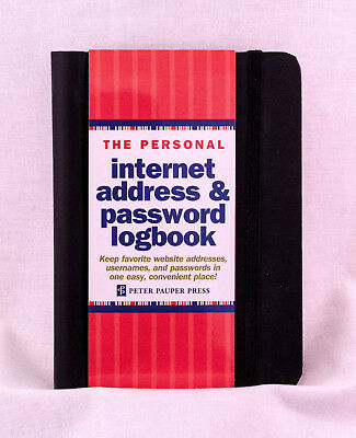 New Personal Internet Address & Password Logbook