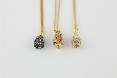 3 x striking JOAN RIVERS sparkly drop necklaces