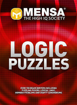Mensa Logic Puzzles - New Book Carter, Philip J., Russell, Ken