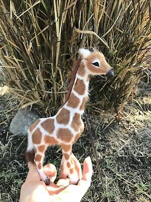 OOAK Giraffe * Safari Zoo Decor * Baby Shower Gift * Fairy Pal * Dollhouse Prop