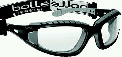 Bolle Tracker II 2 Safety Glasses Goggles - Anti Mist & Scratch - Clear TRACPSI