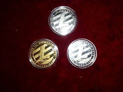 3 Litecoin Coins that state Troy ounce .999 fine silver?