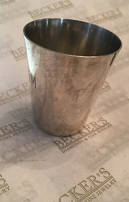 """Sterling Silver Small Cup or Tumbler signed Cartier 2.25"""" tall, 46.65 grams"""