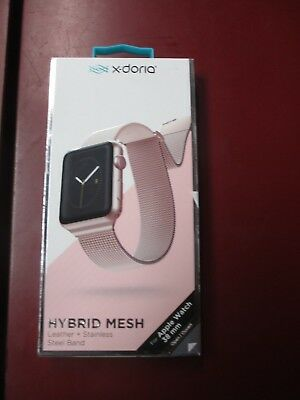 NEW  X-DORIA HYBRID MESH BAND for 38mm APPLE WATCH Rose 3X483392A