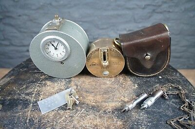Collection of Antique Nightwatchman Recording Clocks - Brass Dent & Smiths