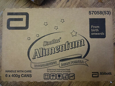 6 x 400g Cans of Similac Alimentum Hypoallergenic Infant Formula Powdered Milk