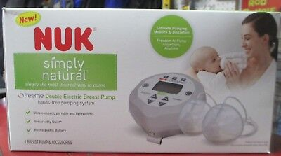 New Nuk Simply Natural Freemie Double Electric Breat Pump