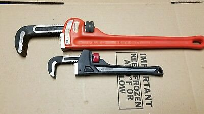 "RIDGID 18 inch HEAVY-DUTY PIPE WRENCH USA & HUSKY 10"" PIPE WRENCH"