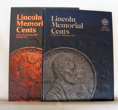Set of Whitman Coin Folders: Lincoln Memorial Cents 1959-2008 and beyond