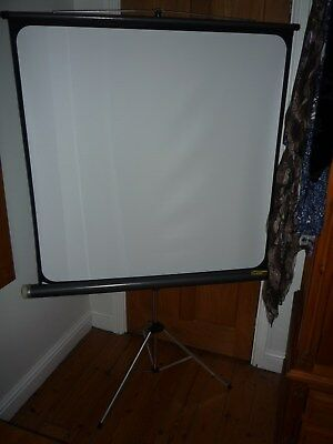 Fins Jolly Deluxe Projection Screen; White Screen Size 100cm x 100cm