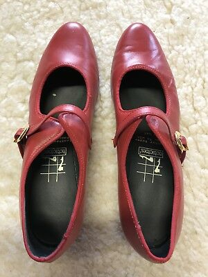 Pretty Red Dancing Shoes, Size 10 Narrow