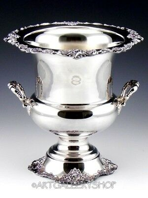 Wallace Silverplate #243 BAROQUE LARGE CHAMPAGNE ICE BUCKET WINE COOLER
