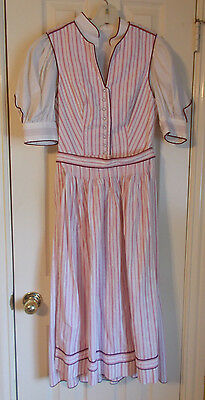 Oktoberfest, Bavarian German, Trachten, Dirndl Dress, 3 Pieces -  size 8
