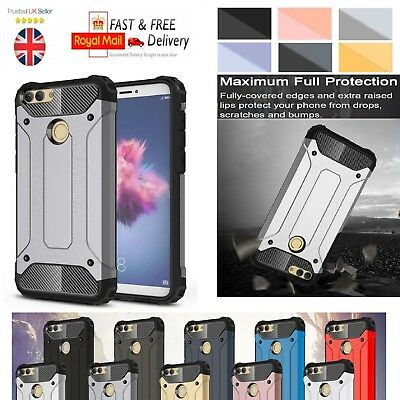 Huawei P Smart Case - Heavy Duty Shockproof Rugged Bumper Hybrid Armor Cover