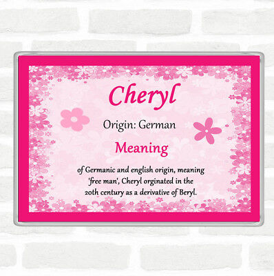 Cheryl Name Meaning Jumbo Fridge Magnet Pink