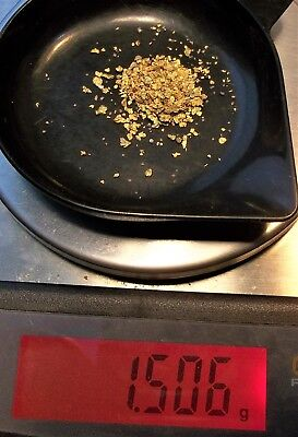 Gold Nuggets, flakes and fine Gold from Alaska, 1.506 Gram.
