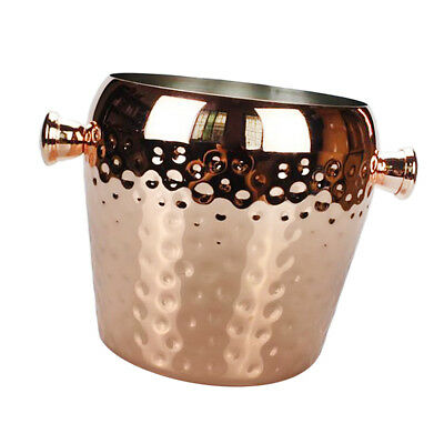 Baoblaze Hammered Copper Stainless Metal Wine Party Bar Cooler Ice Bucket