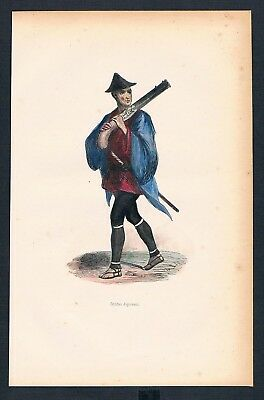 1840 Militaria Militär Military Japan Asien Asia costumes Trachten antique 71534