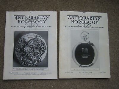 2 Copies Antiquarian Horology Magazine 1984.Tompion, Mudge Earnshaw, Breguet