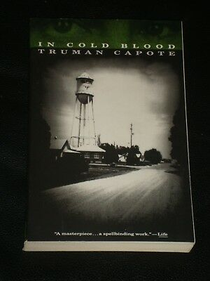 IN COLD BLOOD by Truman Capote (Paperback, 1994) NOVEL / BOOK MADE INTO MOVIE