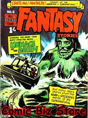 Fantasy Stories #6 (1969) 1St Printing Scarce Uk Silver Age John Spencer