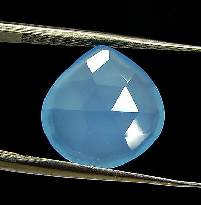 4.25 Ct Natural Blue Chalcedony Loose Faceted Gemstone Beautiful Stone - 10816