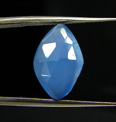2.65 Ct Natural Blue Chalcedony Loose Faceted Gemstone Beautiful Stone - 10799