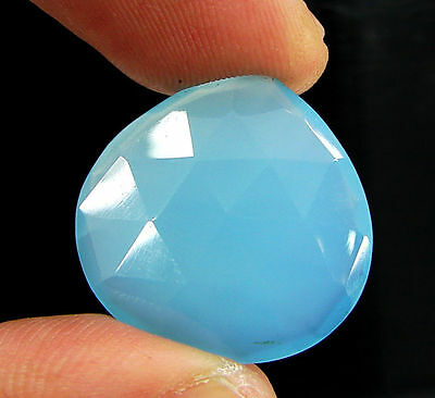 15.80 Ct Natural Blue Chalcedony Loose Faceted Gemstone Beautiful Stone - 10746